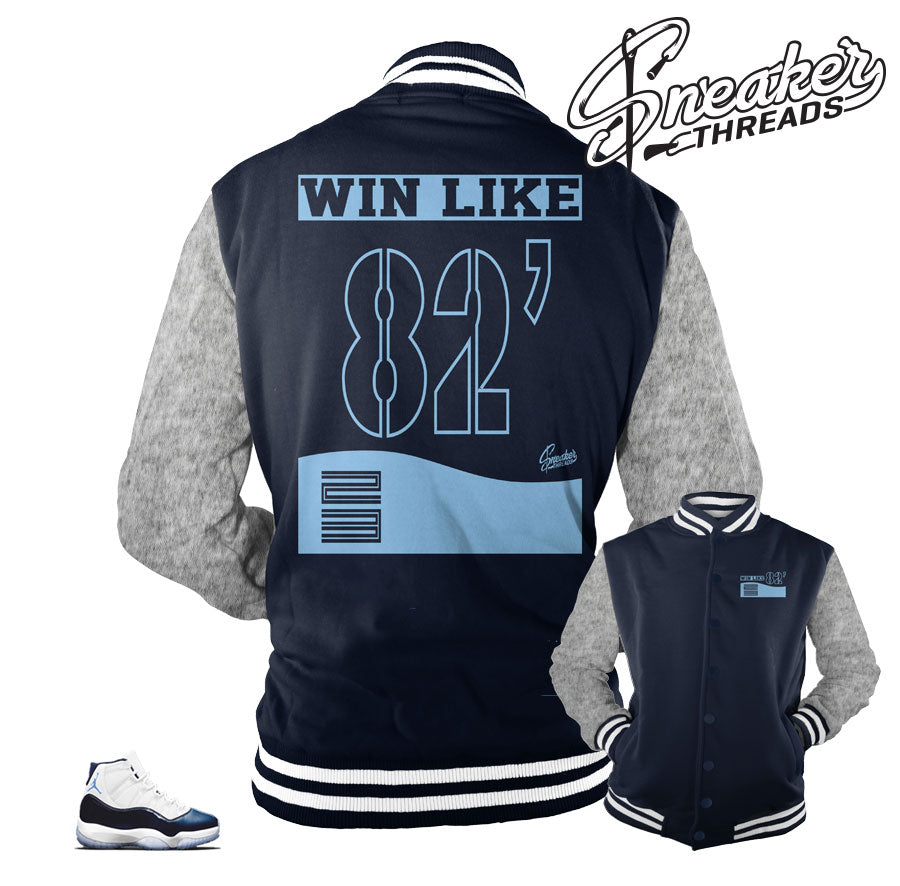 Jordan 11 win like 82 varsity jackets | official varsity jacket match.