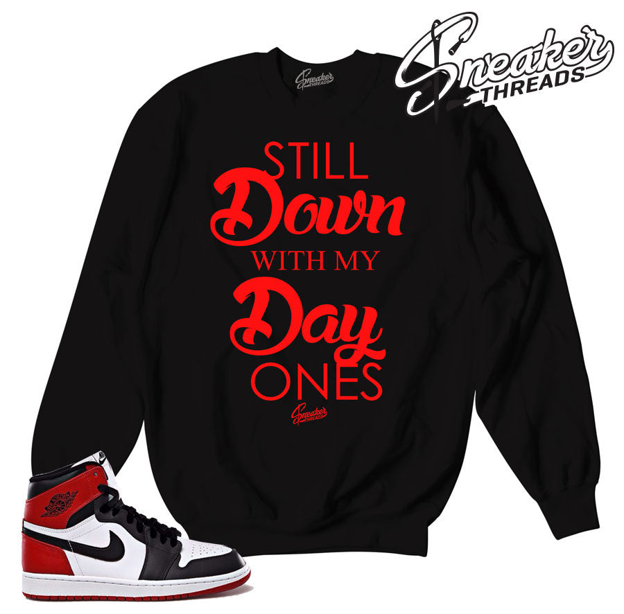 Jordan 1 black toe crewnecks. Black toe crews match shoes.