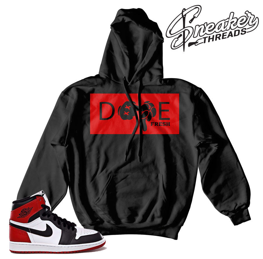 Jordan 1 black toe hoodies match retro 1 sweatshirts.