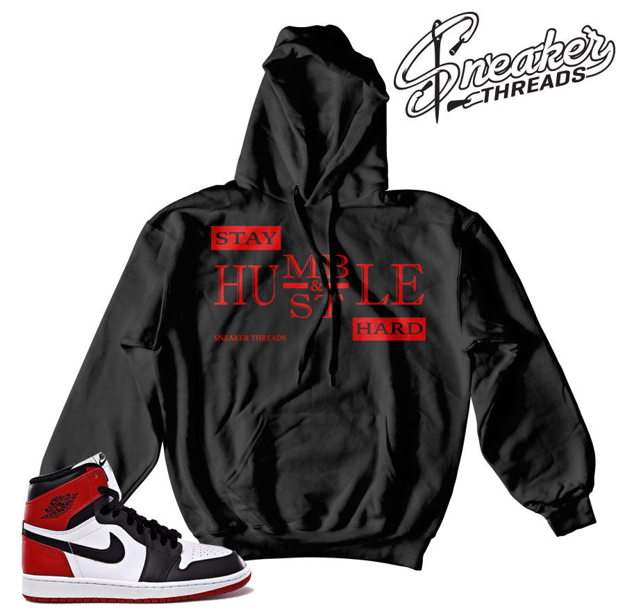 Jordan 1 black toe hooded sweatshirt match retro 1.