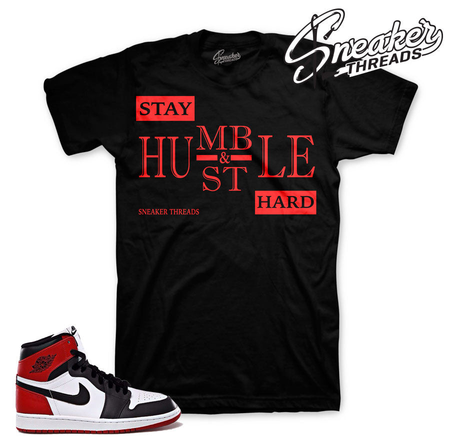 Black toe jordan 1 t-shirt match shoes. Black toe tees.