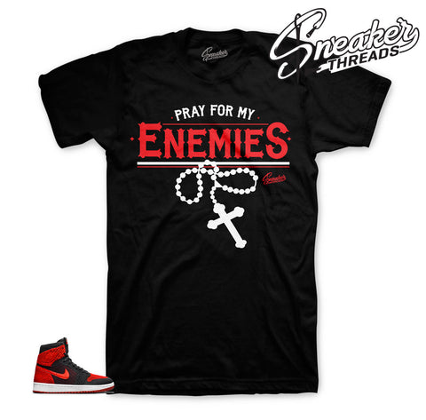 Jordan 1 flyknit shirts match | Official retro 1 banned shirt.