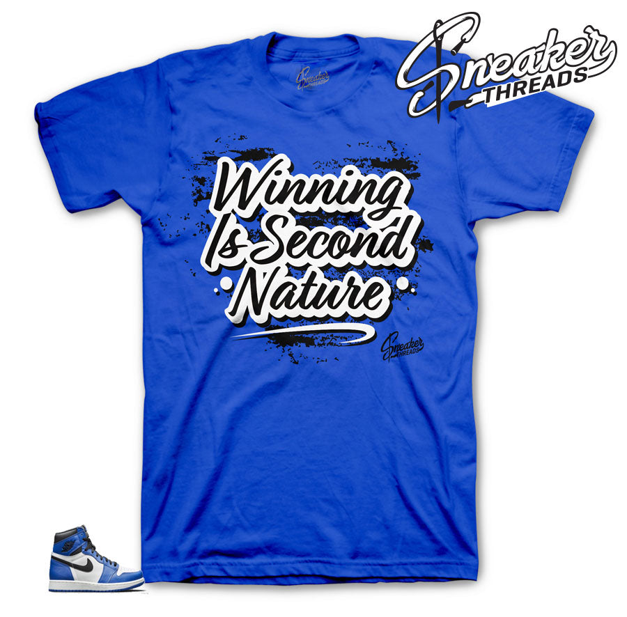 Jordan 1 game royal sneaker tees match shoes.