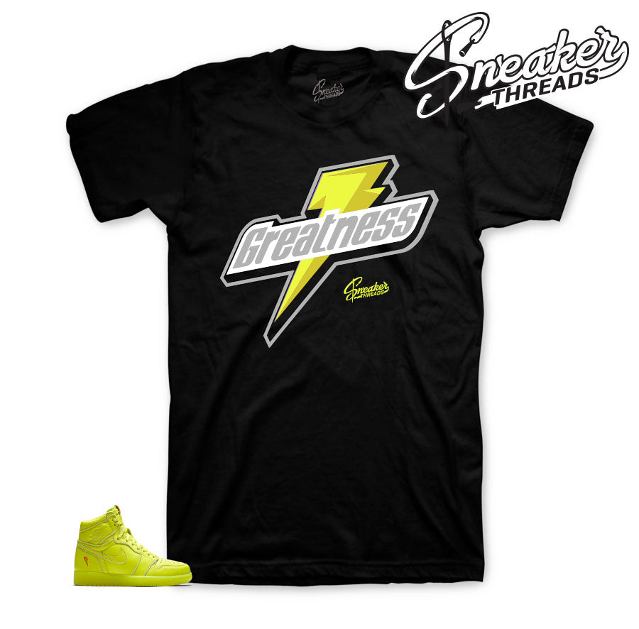 Jordan 1 cyber lemon lime tee shirts match retro 1 be like mike.