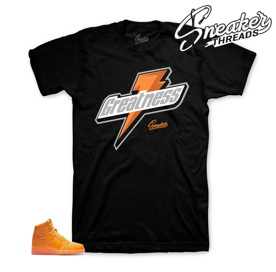 Jordan 1 orange peel tee shirts match retro 1 be like mike.