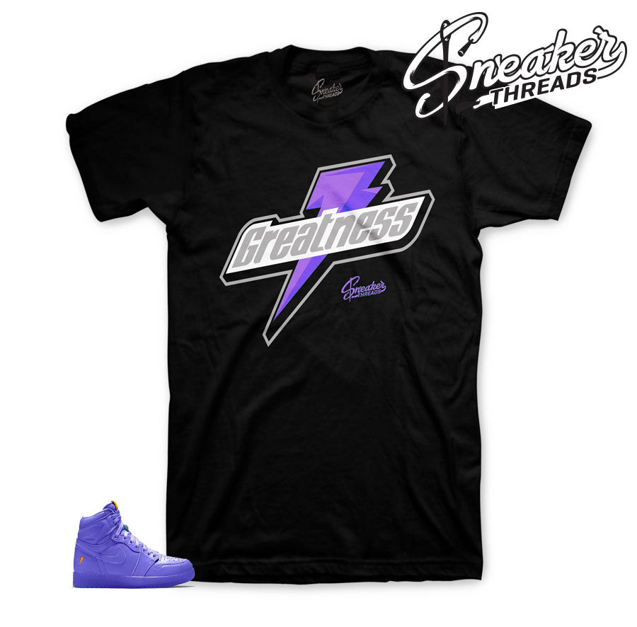 Jordan 1 rush violet tee shirts match retro 1 be like mike.