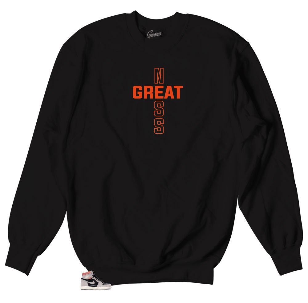 crewneck sweater designed to match Jordan 1 sneaker collection Hyper crimson