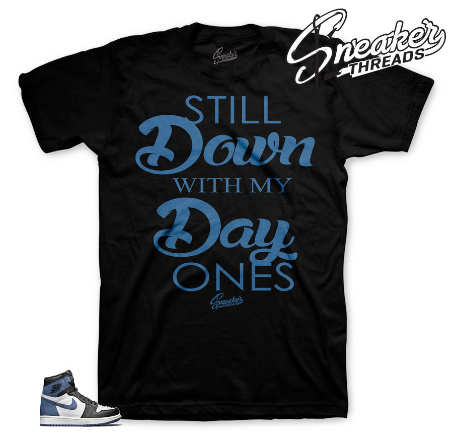 Jordan 1 blue moon tee shirts match best hand in game tee.