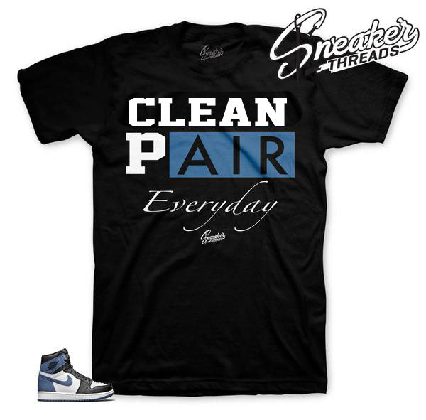 Blue moon Jordan 1 tee shirts match best hand in game tee.