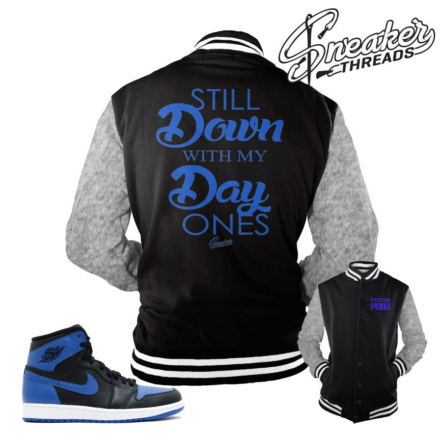 Jacket match Jordan 1 Royal OG shoes | Sneaker Tee