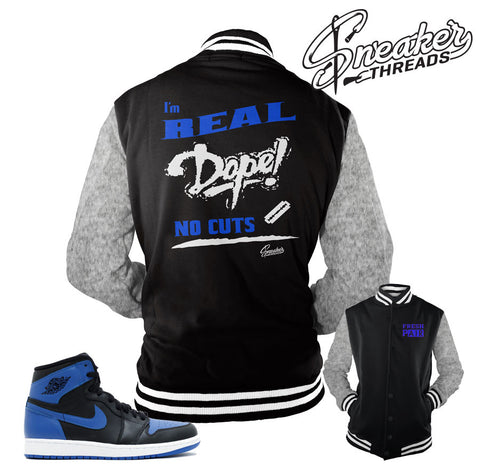 Jordan 1 Royal OG jackets match shoes | Sneaker Tee