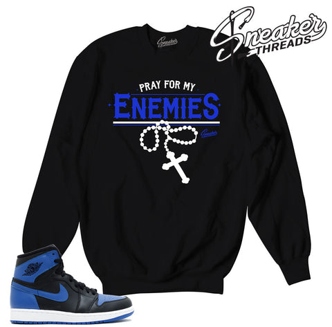 Sweatshirts match jordan 1 royal OG retro 1 sneakers.