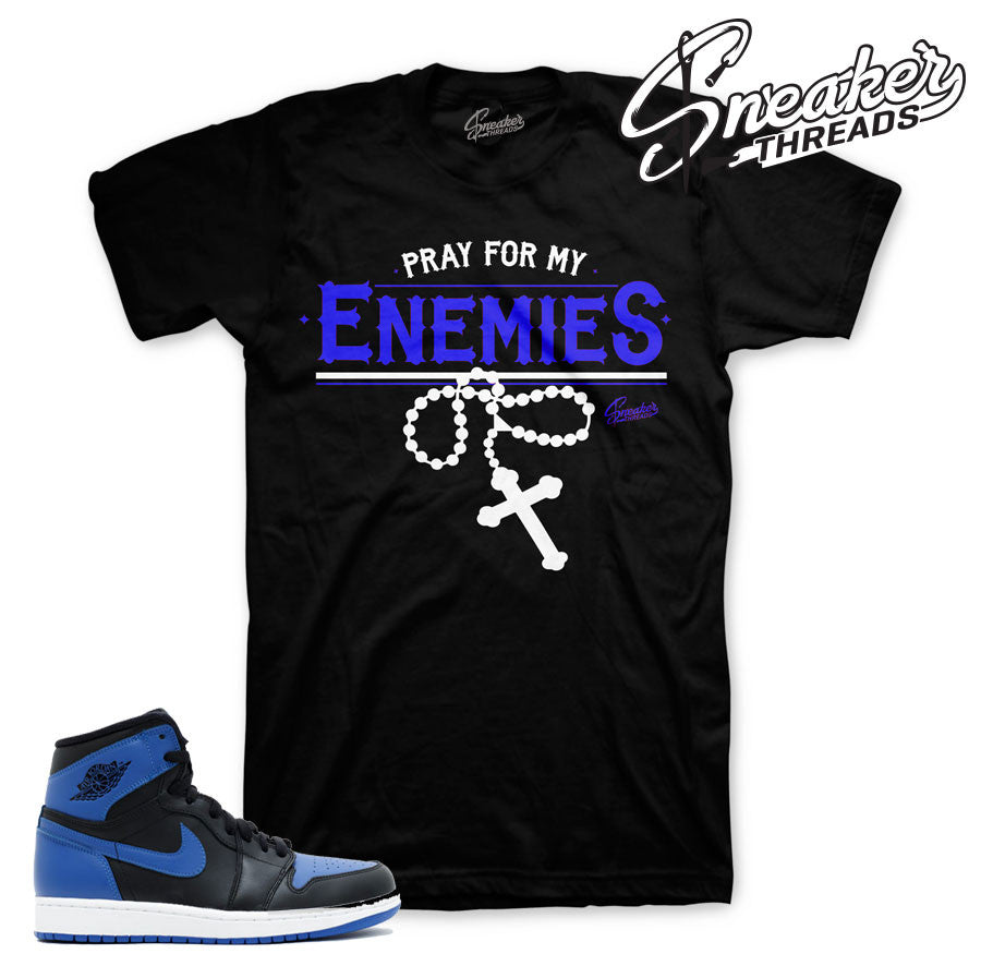 Tees match jordan 1 og royal official matching tee for Jordan royal 1 shirt