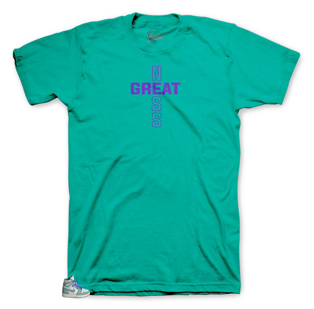 82365bcef73b10 the sneaker Jordan 1 turbo green matches shirts designed to match ...