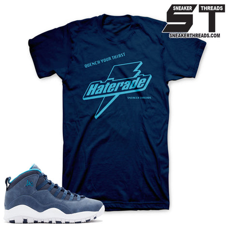 Jordan 10 LA shirts match retro 10's Los angeles sneaker shirts.