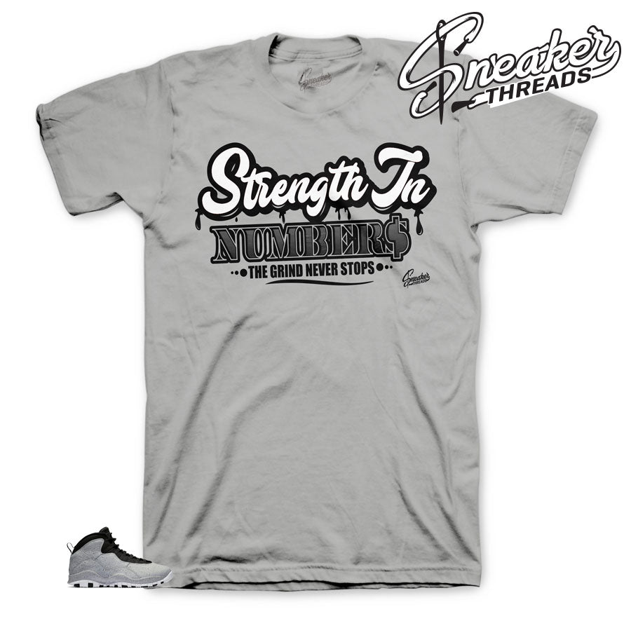 Jordan 10 Smoke Grey Strength Shirt