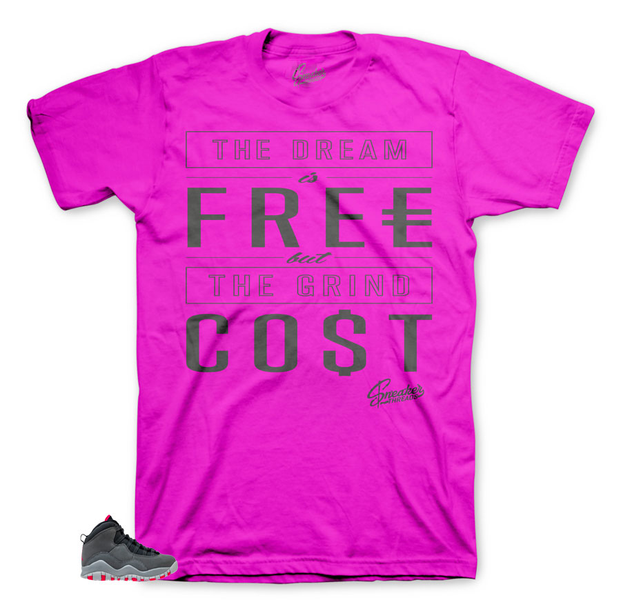 Rush Pink Cost shirts to match | Jordan 10 Rush Pink