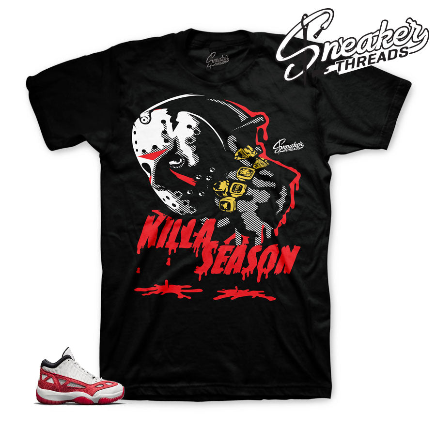 fe1e0086cc0b66 Home Jordan 11 Fire Red Killa Season Shirt. Share