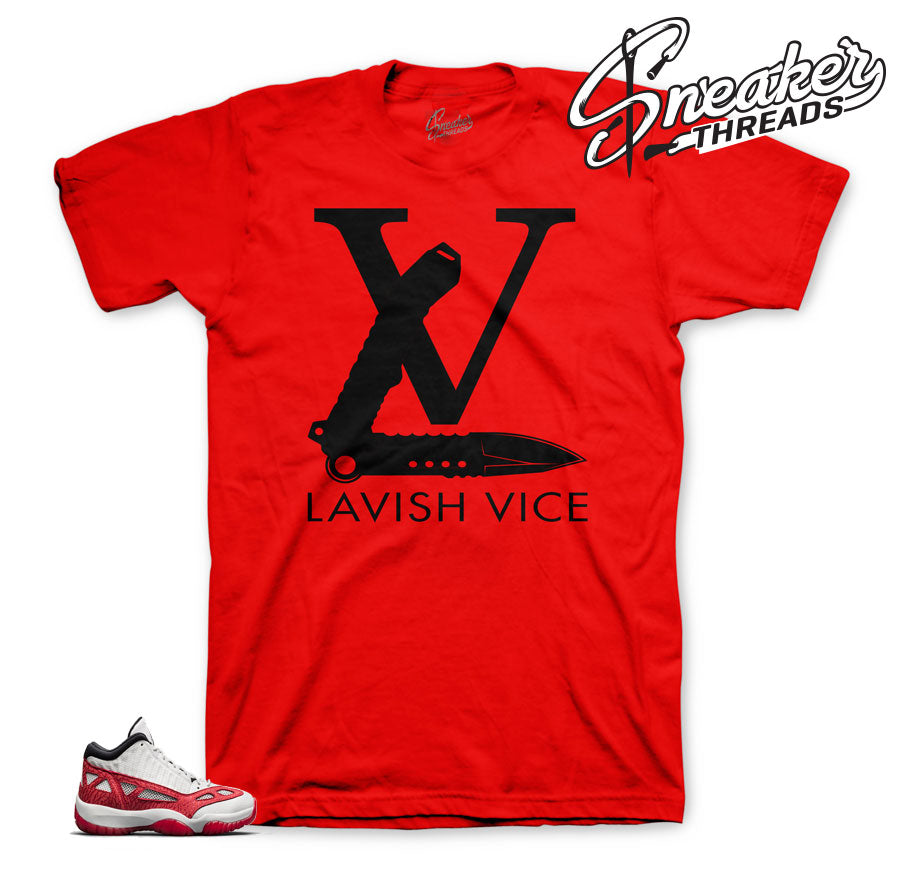 The best shirts to match Jordan 11 fire red IE sneakers.
