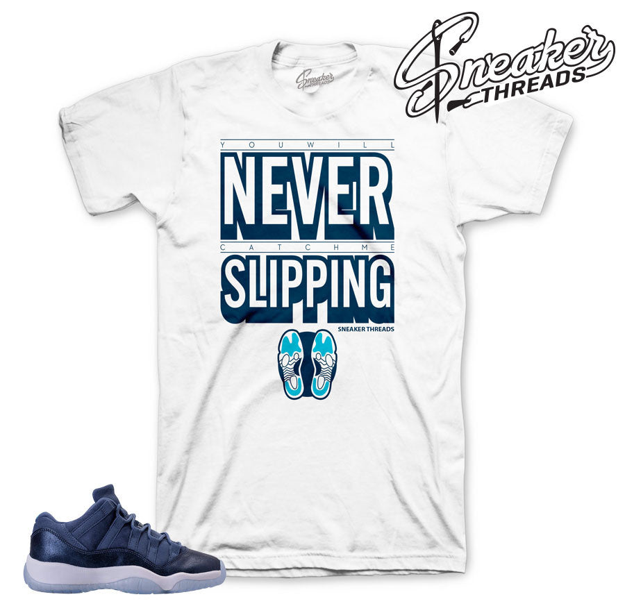 Jordan 11 blue moon shirt match retro 11's low tee.
