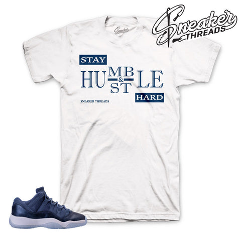Blue moon jordan 11 tees match retro 11's sneaker tee.