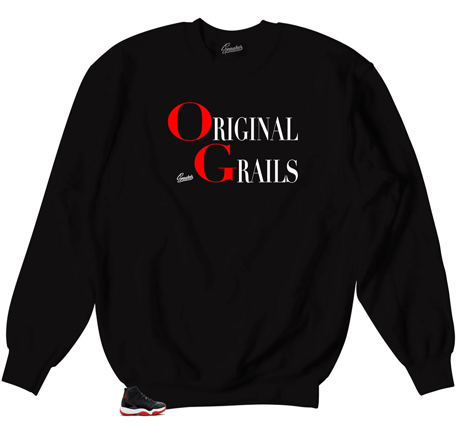 b099218a488 Jordan 11 Bred Grails Sweater. From $49.99. No reviews. Jordan 11 bred  sneaker matching tees. Best bred 11 clothing matches. Shirt · Add to  Wishlist