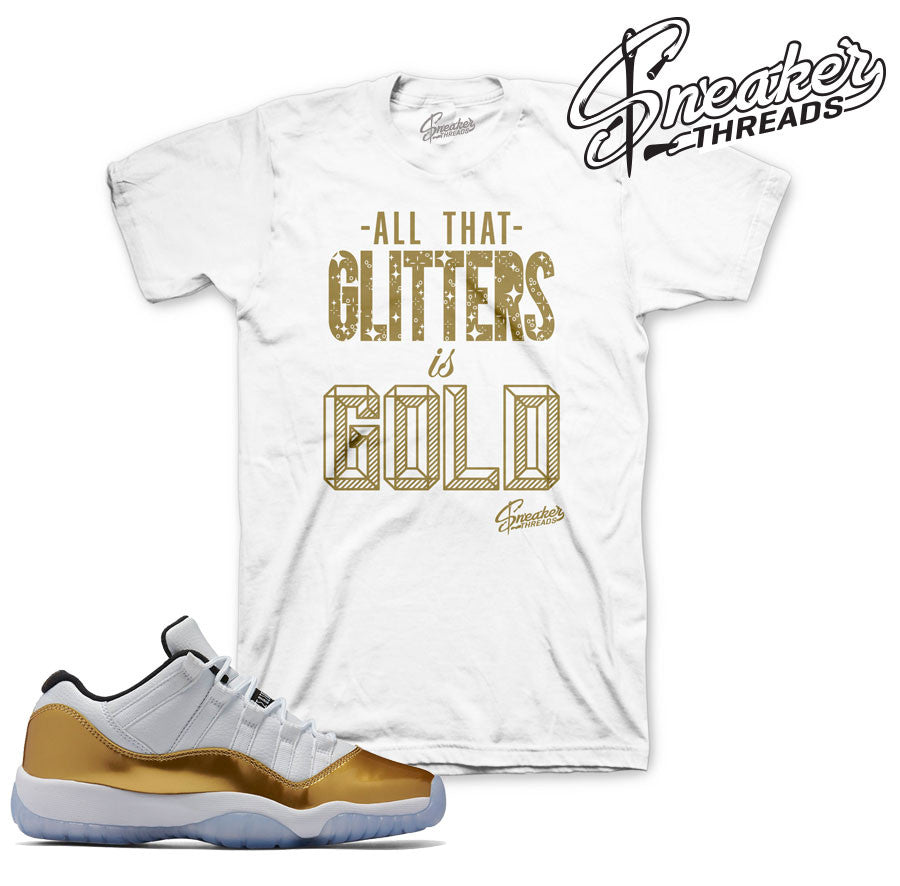 Jordan 11 closing ceremony tees match retro 11 low gold tees,