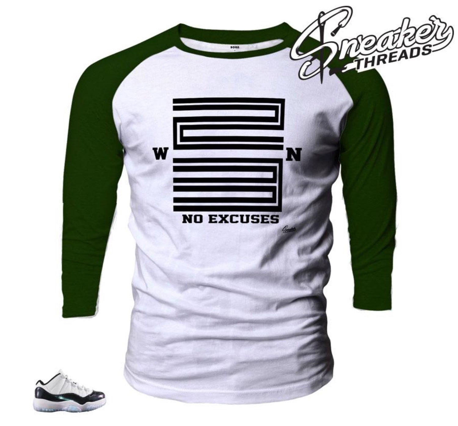 4c97795f4ff2e9 Jordan 11 Easter Shirts match retro 11 emerald green sneaker tees.