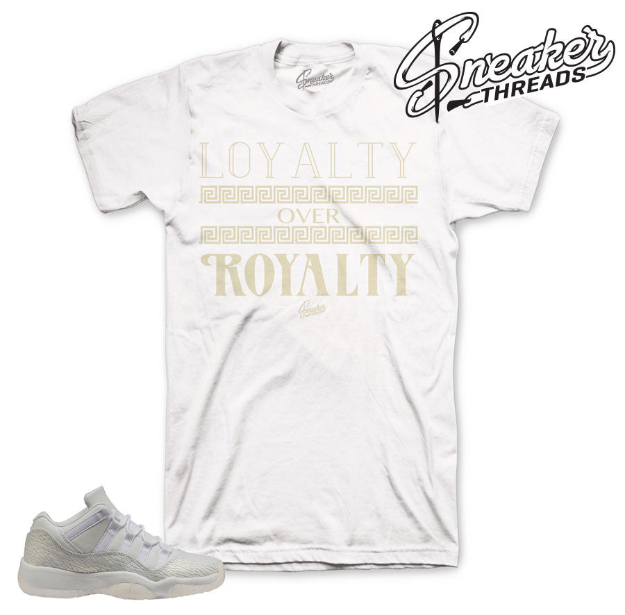 Jordan 11 frost white tees match | Heiress 11 t shirts match