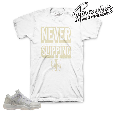 Jordan 11 frost white tee match retro 11 heiress tees.