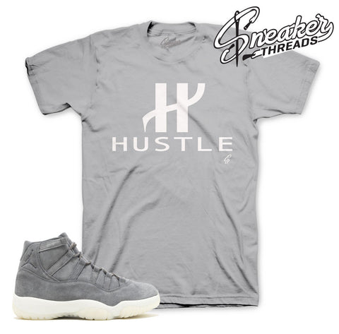 Match jordan 11 grey suede shirts retro 11 premium tees.
