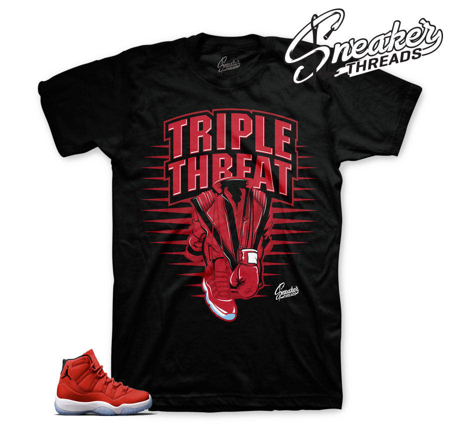 Jordan 11 gym red official matching shirts for chicago 11.