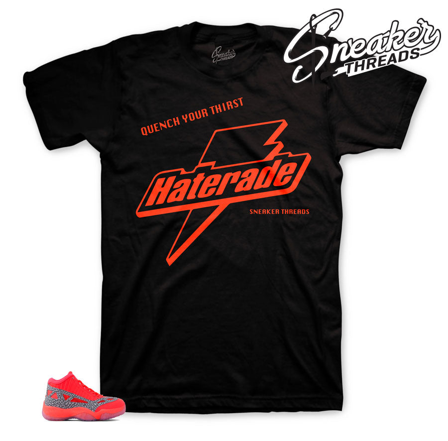 Jordan 11 flash crimson sneaker tees match retro 11 crimson shoes.