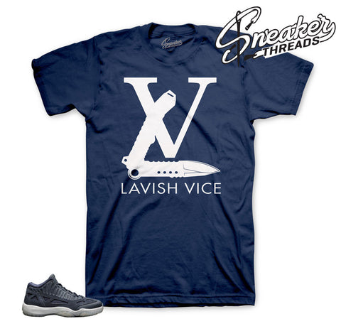 Shirts match Jordan 11 obsidian low retro obsidian tees.