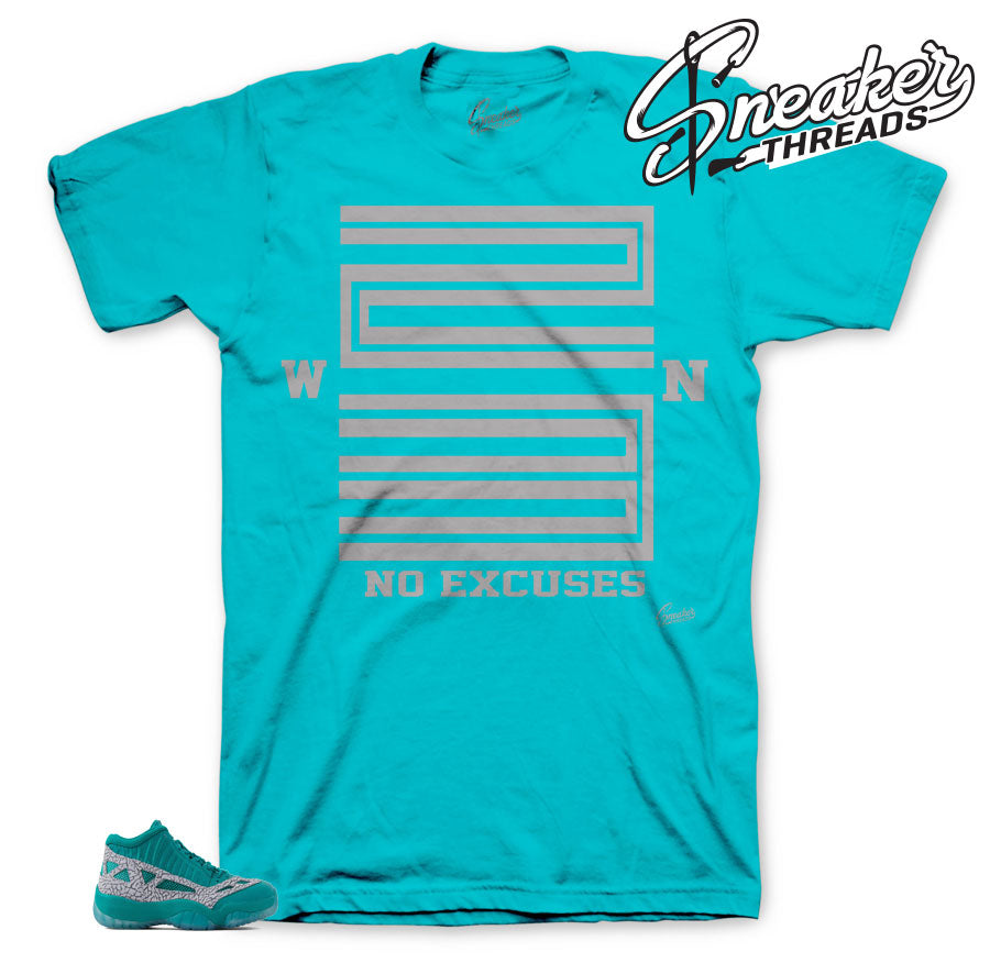 Jordan 11 rio teal official matching sneaker tees for retro 11 ie shoes.