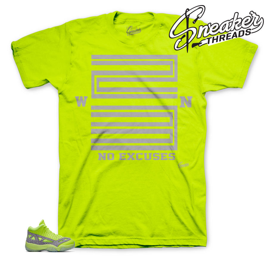 Jordan 11 volt ie sneaker shirts match retro 11 | Volt 11 tees match
