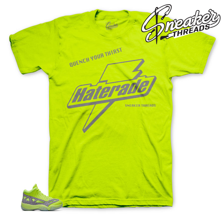 Sneaker tees match retro 11 volt sneakers | Volt 11 tees match