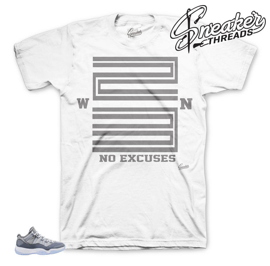 Jordan 11 low cool grey sneaker tees match.