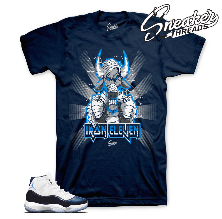 Jordan 11 midnight navy tee match retro 11's sneaker match shirts.