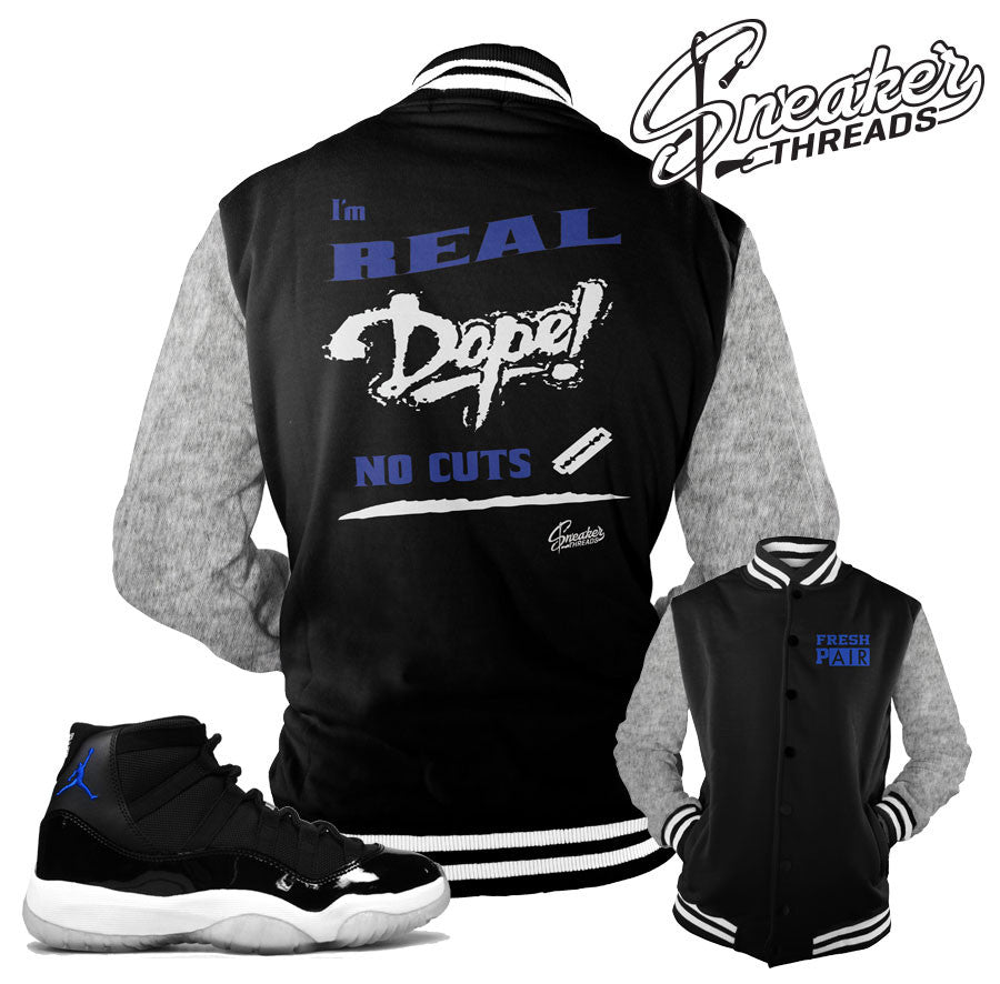 Space jam 11 jackets match jordan 11 space jam coats.