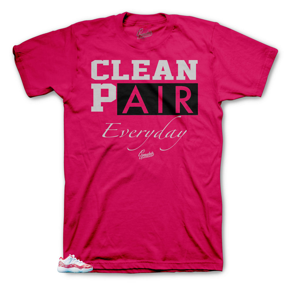 545684efc0640e Everyday clean shirts to match with Jordan 11 Low Snakeskin