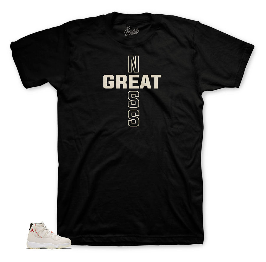 b9797937f58 Home Jordan 11 Platinum Tint Greatness Cross Shirt. Share