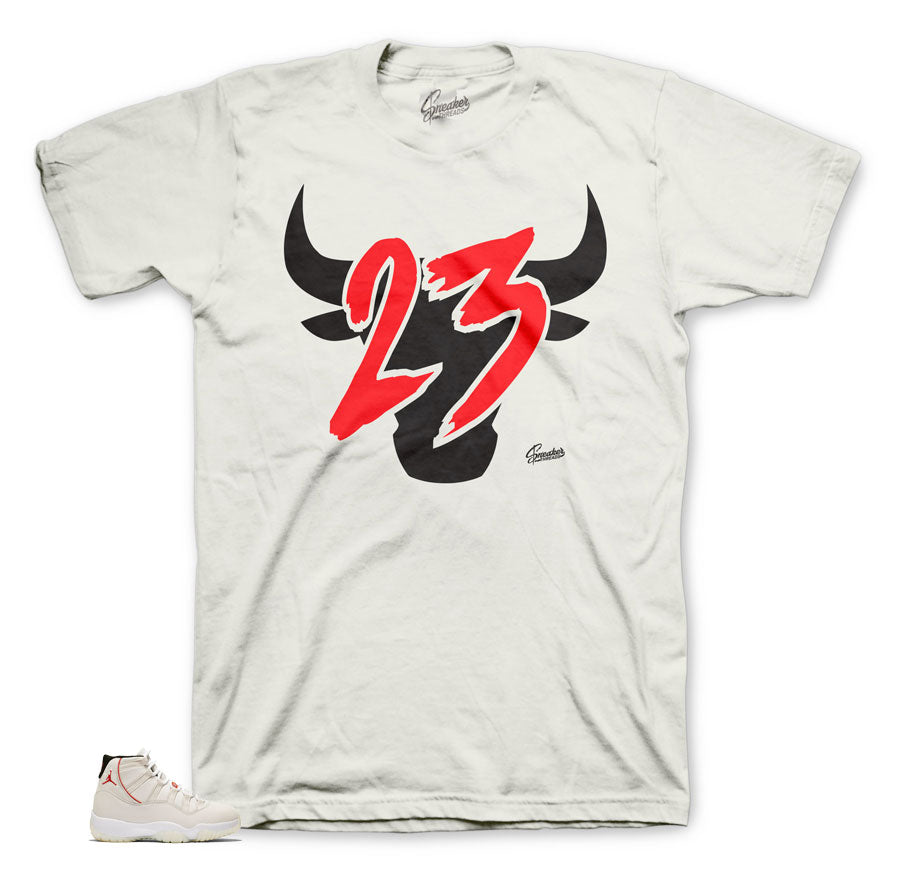Jordan 11 platinum tint sneaker tees match retro 11 shoes.