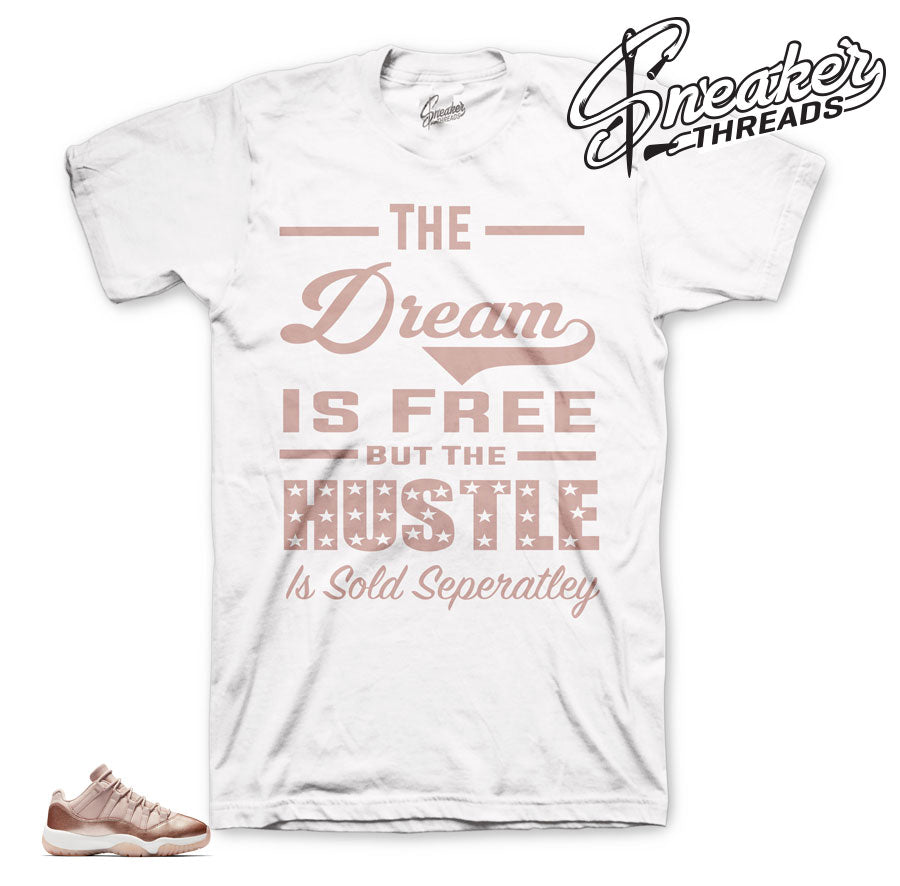 Jordan 11 rose gold sneaker shirts | the best clothing much retro 11.