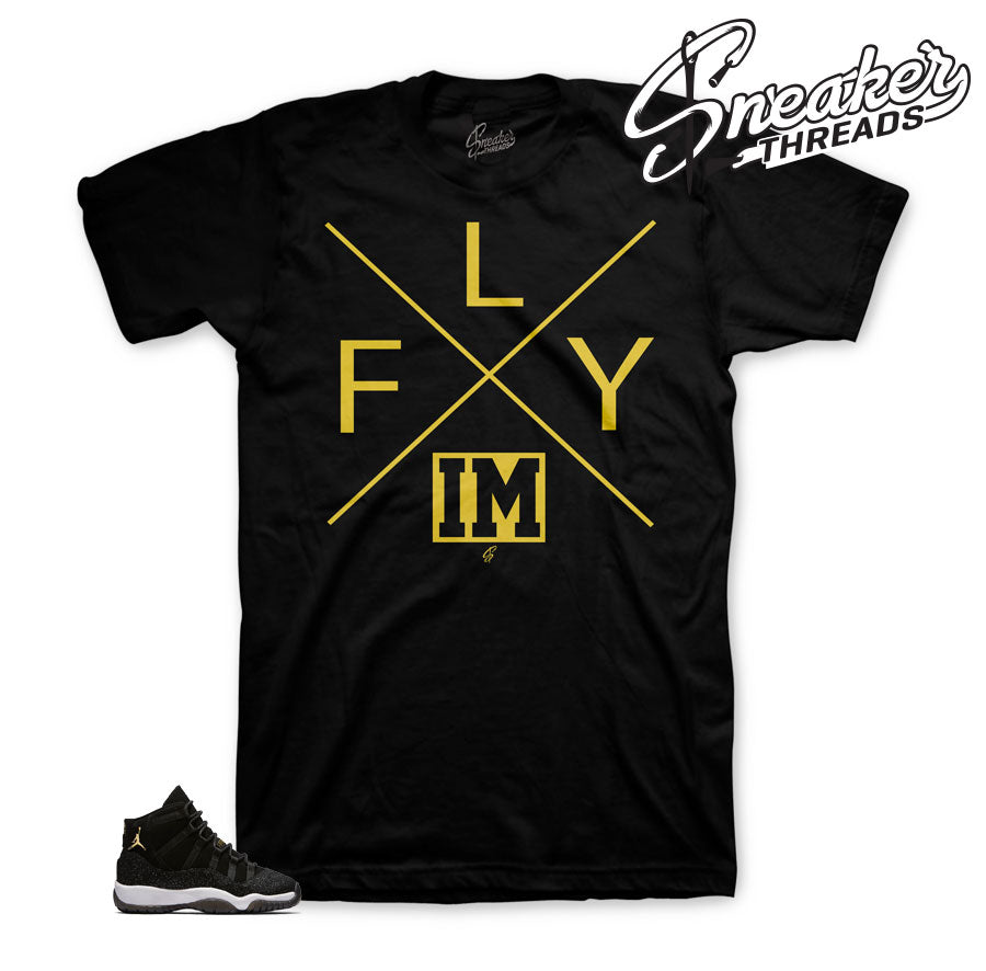 Jordan 11 heiress stingray tee | Official shirts match retro 11.