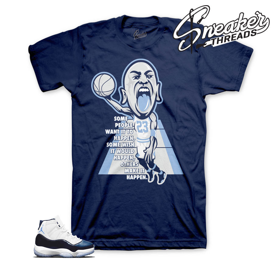 Midnight navy Jordan 11 tees and shirts match | Sneaker threads