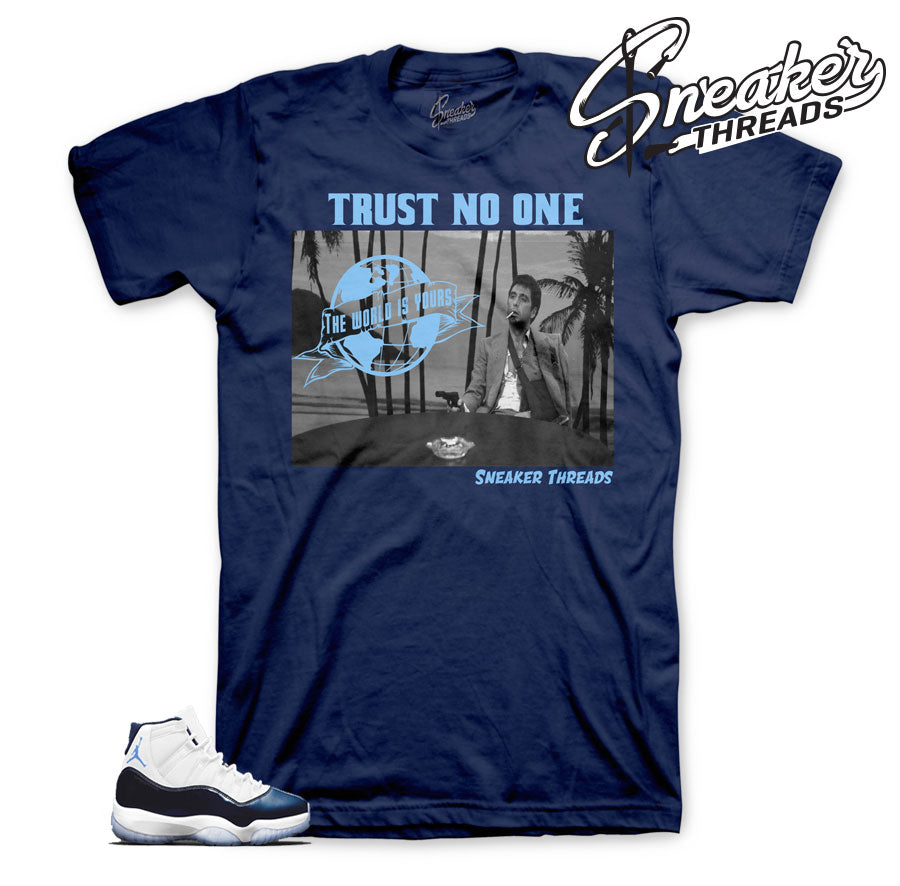 Jordan 11 UNC win like 82 shirts match | Official clothing.
