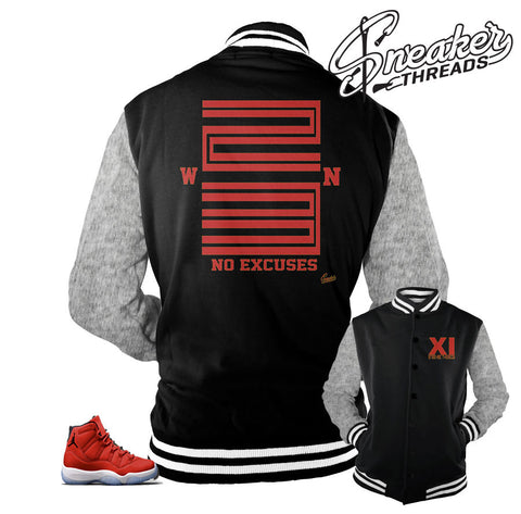 Varsity jackets match Jordan 11 win like 96 shoes.