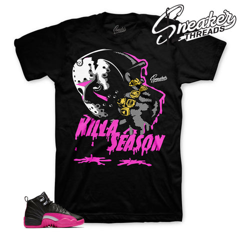 Jordan 12 deadly pink shirts and shirts match retro 12s.