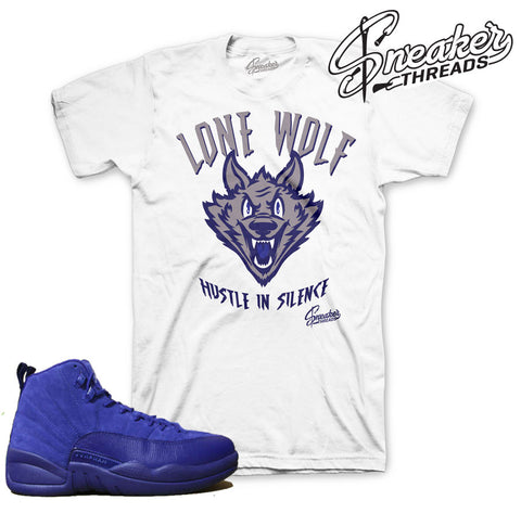 Jordan 12 deep royal blue tees match retro 12 sneaker shirts.